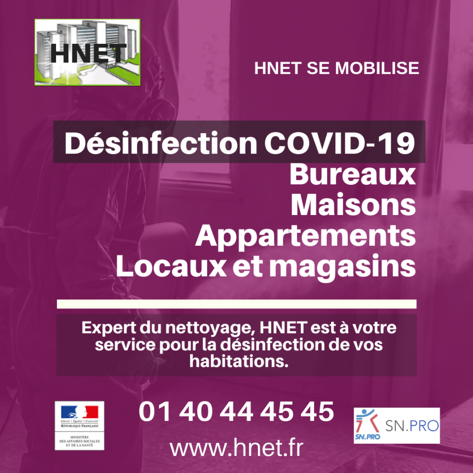 HNET Desinfection COVID 19